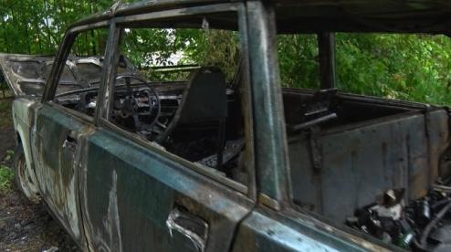 Ночью в Первоуральске сгорел автомобиль