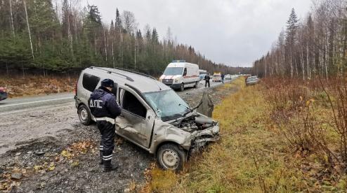 На трассе под Первоуральском в ДТП пострадали трое детей
