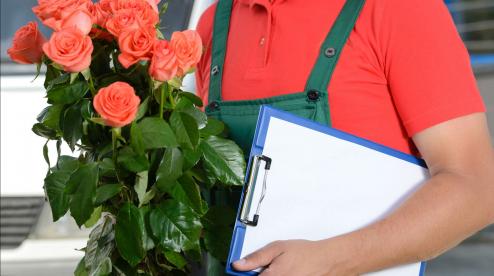 Нежданные цветы с доставкой прямо к двери получателя