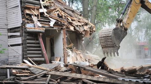 На Динасе снесут аварийный дом