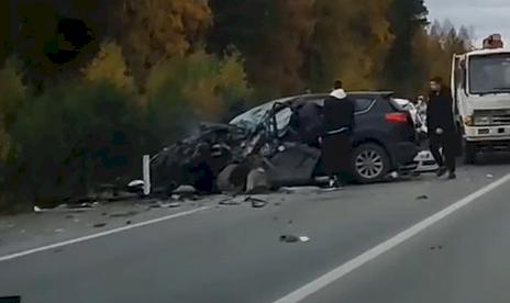 На въезде в Первоуральск произошла жуткая авария