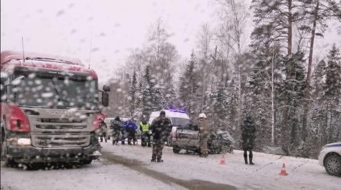 Под Первоуральском на участке трассы Пермь — Екатеринбург произошло смертельное ДТП. Видео