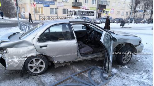ДТП в центре Первоуральска попала на видео