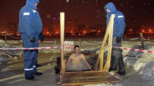 Роспотребнадзор запрелил окунаться на Крещение в Нижне-Шайтанском пруду