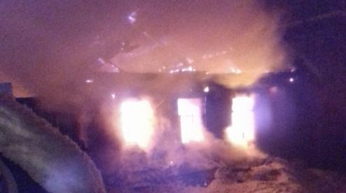 В Билимбае сгорел частный дом